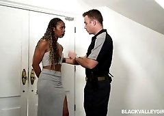 Misty Stone is a horn-mad black nympho who sucks lewd cop's cock