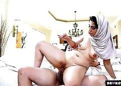Bootylicious Pakistani princess Nadia Ali can really ride a dick