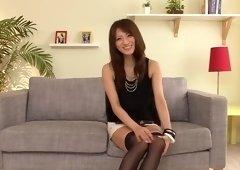 Godly unhaved Japanese youthful harlot Saki Kouzai is fucking hard on casting