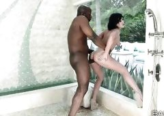 Horny Jennifer Gives In To An Ebony Partner