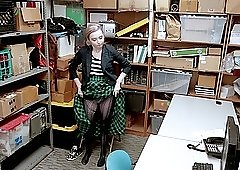 Teen blonde Lexi Lore striped and punish fucked in the office
