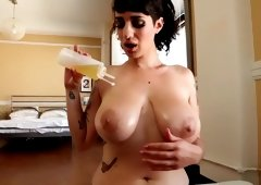 Best pornstar Arabelle Raphael in horny big tits, tattoos sex video