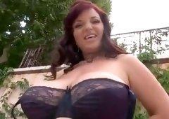 Racy breasty Joanna Bliss haning an incredible masturbation