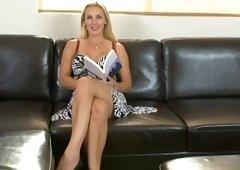 Horny blonde wife fucks husband in POV