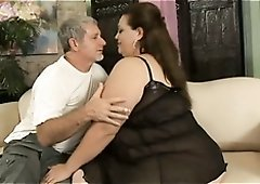 Voracious giant breasted BBW spreads her plump legs to be fucked missionary