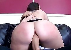 Guy broke solo masturbation of chubby babe with big ass