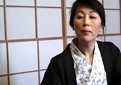 Tempting small titted oriental mom Sumika Natori in handjob porn video