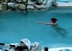 Voyeuring my dear neighbors in their pool