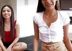 Hot teens loves banging with with stepbro