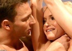 Teasing platinum Czech young gal Kathia Nobili in fetish sex video