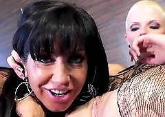 Two fellas banging sexy Tara Holiday and her luscious friend