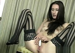 Canadian Newbie Coed First Real Female Masturbation to Orgasm Shoot