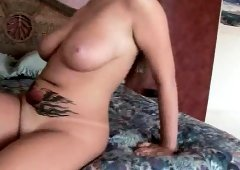 Big breasted wife Emily George has an older guy fulfilling her needs