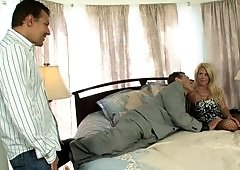 Sharing a lovely milf makes for a great threesome