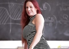 Faye Rampton is one naughty professor and she loves showing off her butt