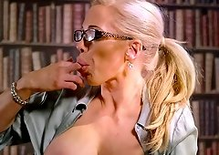 Office sexual experience for stunning blonde Rebecca Moore