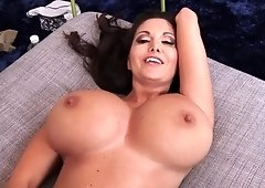 Pawg wife gets pov fucked then cum glazed her tits by her husband