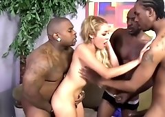 Incredible female in interracial porn video