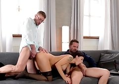 Billie Star is an elegant brunette in need of a threesome