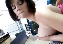 Redhead porn video featuring Katie Kox and Keiran Lee