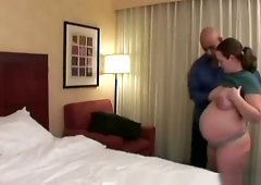 Amateur Pregnant Babe Riding Big Dick Bedroom
