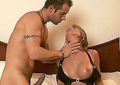 Nessa Devil has to moan while a friend bangs her hairy pussy